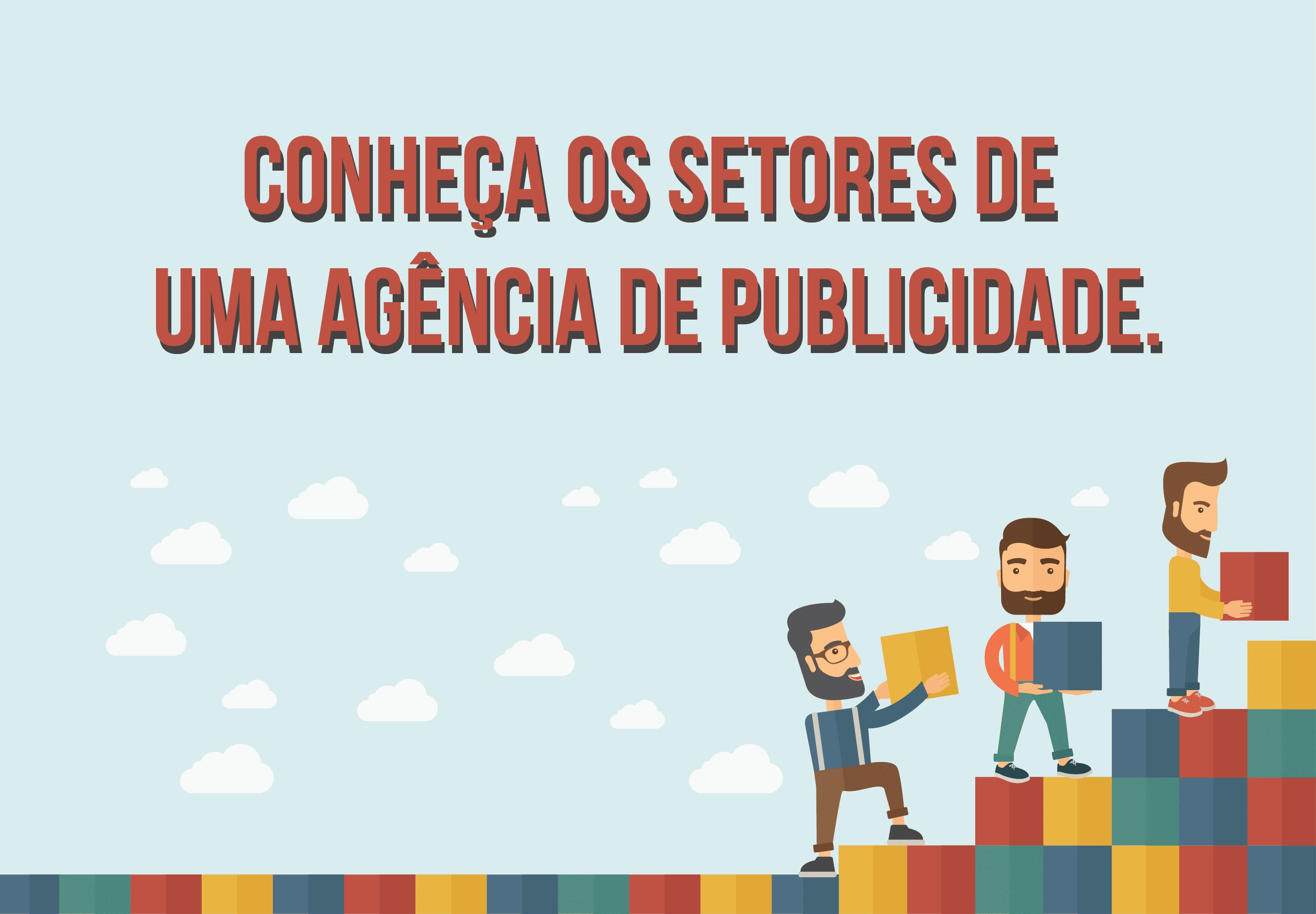 Infográfico: a agência de publicidade e seus departamentos. BG Comunicação e Marketing