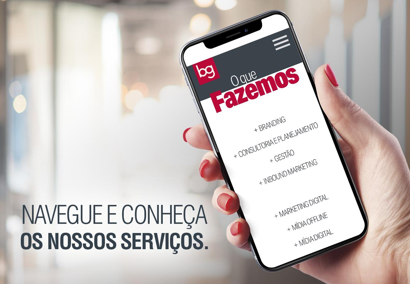 O que você encontra para o seu negócio no novo site da BG?
